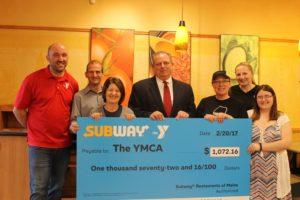Subway Raises $1,000+ for YMCA!!!