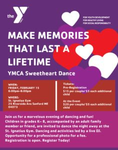 Sweetheart Dance Tickets Available Now !!!